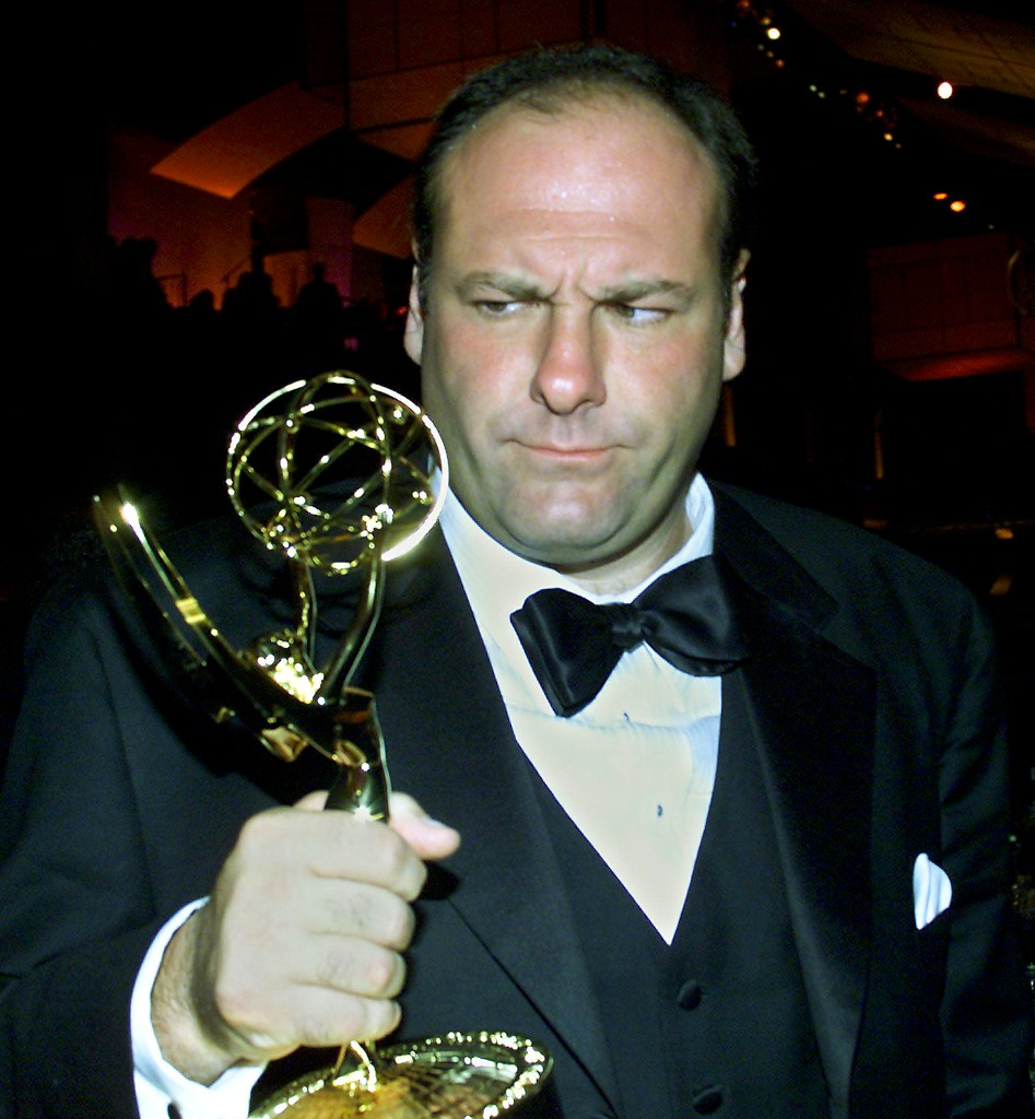 Gandolfini com o Emmy para melhor actor numa série dramática